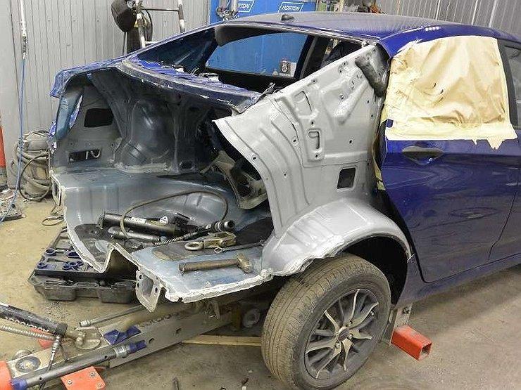ремонт машины после аварии
