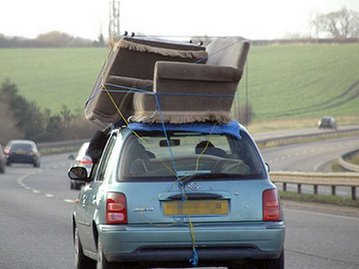 Как ГИБДД штрафует за багажник на крыше машины
