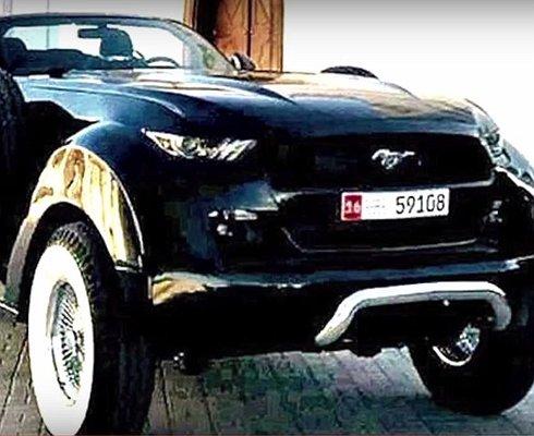 Ford Mustang плюс Dodge Ram: уникальный кабриолет для шейха