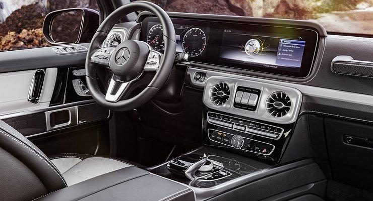 ВГермании показали интерьер Mercedes-Benz G-класса третьего поколения