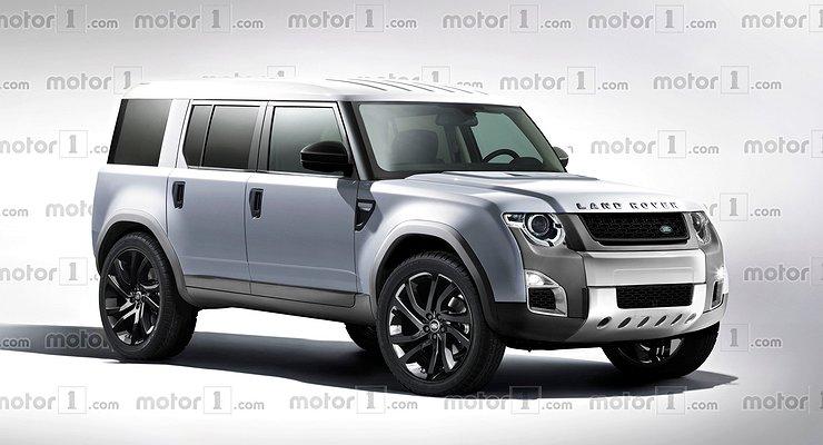 Винтернете появились рендеры Land Rover Defender нового поколения