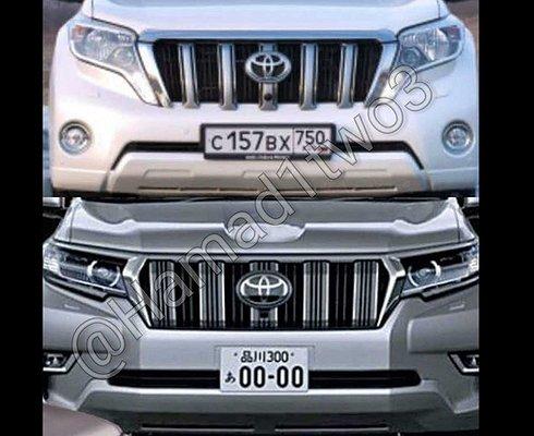 Опубликованы первые фотографии обновленного Toyota Land Cruiser Prado