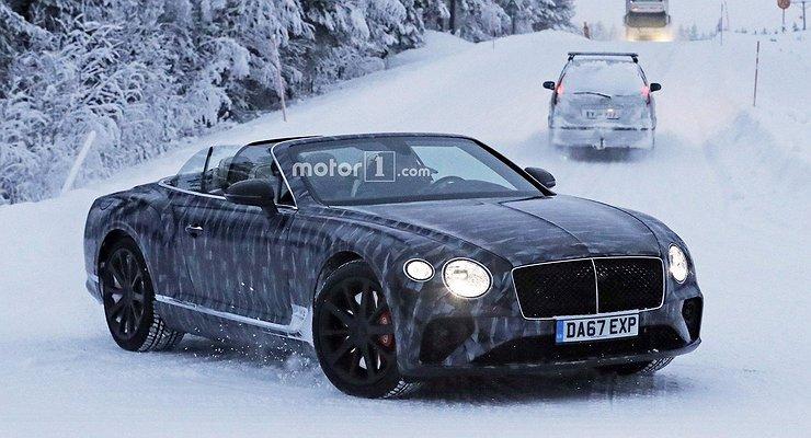 Кабриолет Bentley Continental GTC нового поколения замечен натестах
