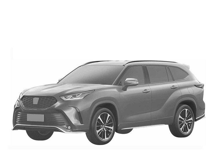 В России запатентовали спортивную версию кроссовера Toyota Highlander