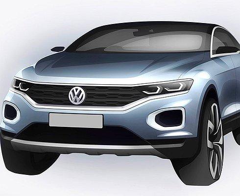 Опубликованы первые изображения нового кроссовера Volkswagen T-Roc