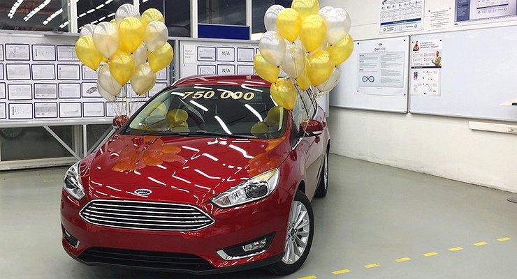 Завод Ford Sollers воВсеволожске выпустил 750000автомобилей