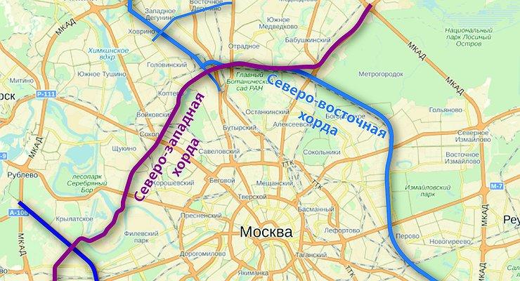 Восточная хорда подробная схема 2016 спб