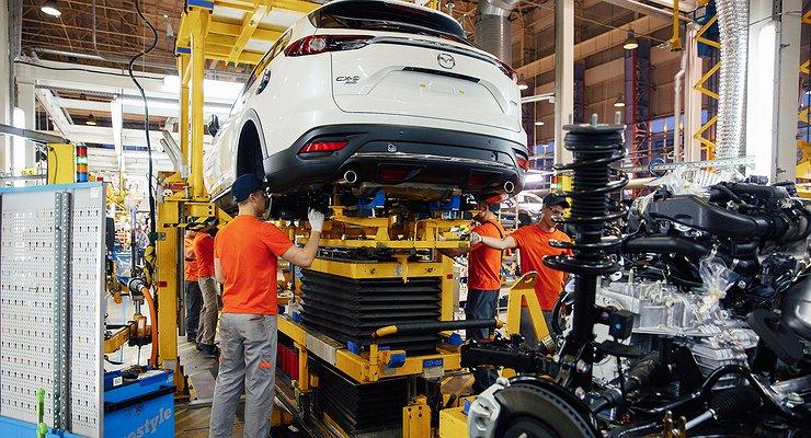 ВоВладивостоке началось производство кроссовера Mazda CX-9