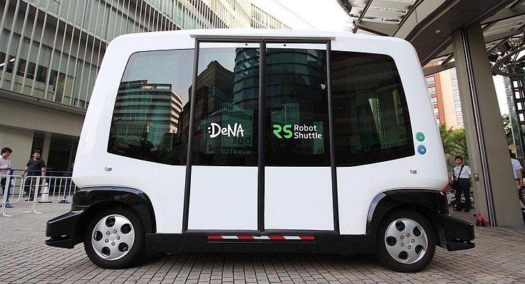 Первый беспилотный микроавтобус выехал надороги Японии