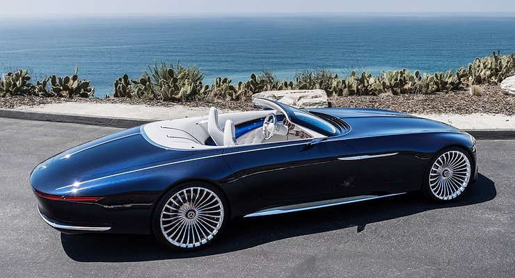 В Пеббл-Бич дебютировал кабриолет Mercedes-Benz Vision Maybach 6