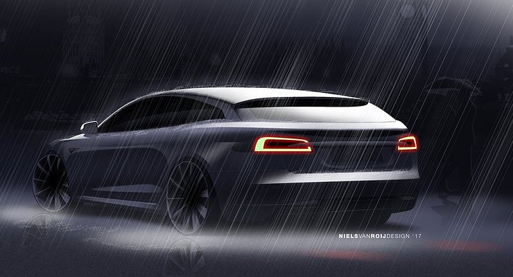 Рассекречен экстерьер универсала Tesla Model S
