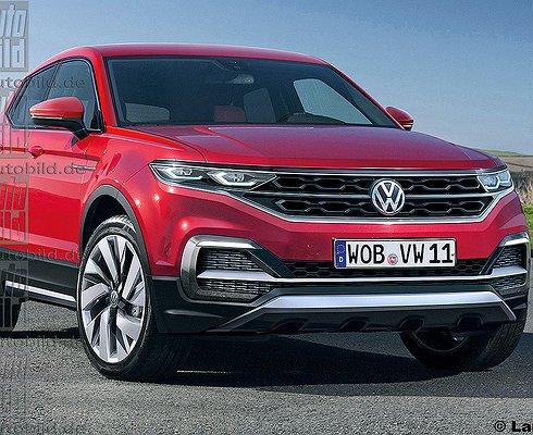 Опубликованы первые изображения нового Volkswagen T-Cross