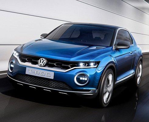 Новый кроссовер Volkswagen T-Roc дебютирует летом