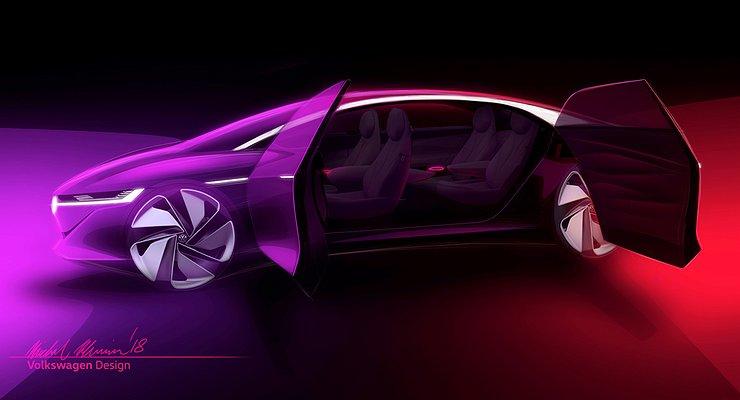 Volkswagen представит вЖеневе новый седан I.D.Vizzion