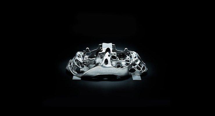Тормозные суппорты для гиперкаров Bugatti будут печатать на3D-принтере