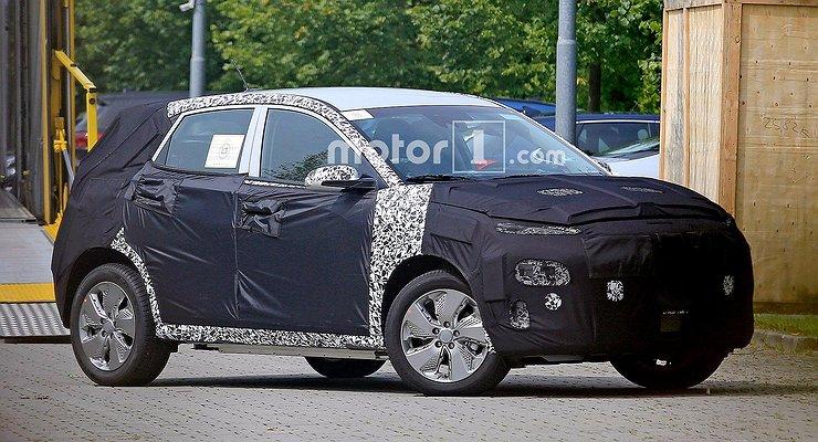 Электрический кроссовер Hyundai Kona замечен натестах