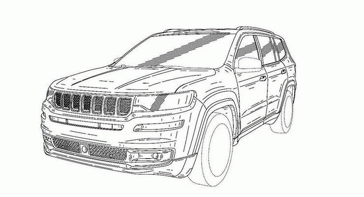 Опубликованы первые изображения нового семиместного внедорожника Jeep
