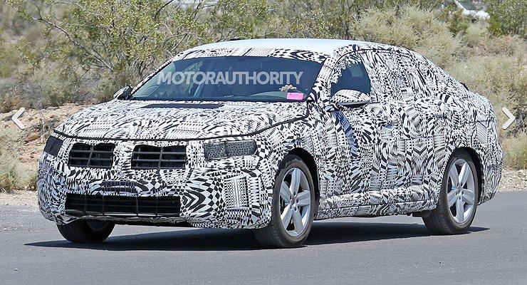 Volkswagen Jetta седьмого поколения вновь замечена натестах