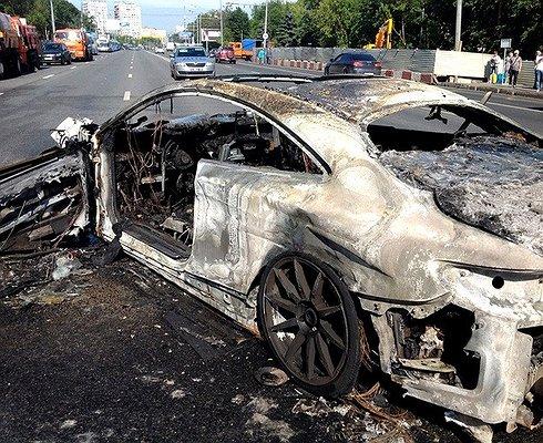 Полиция троллит мажора, устроившего огненное ДТП наВолоколамке
