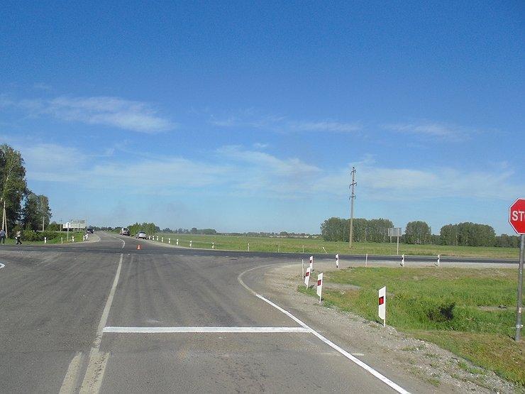 Ограничение скорости на перекрестке