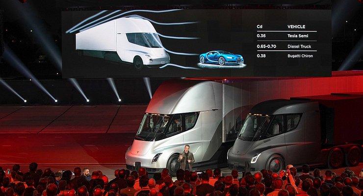 Состоялась премьера электрического грузовика Tesla