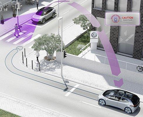 Автомобили Volkswagen научатся «общаться» сдругими машинами