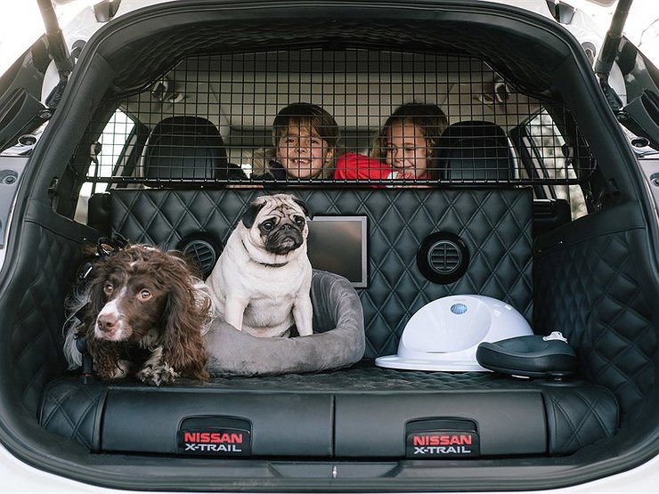 Ниссан продемонстрировал навидео кроссовер для приверженцев собак