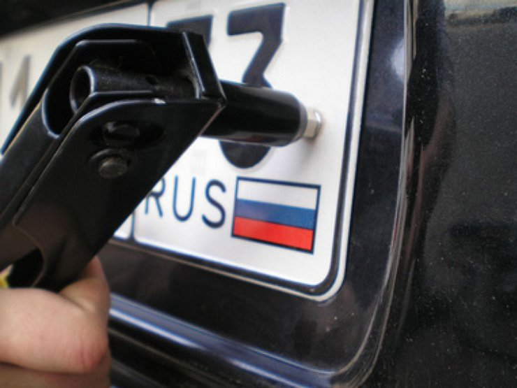 эксплуатация автомобиля с одним регистрационным знаком