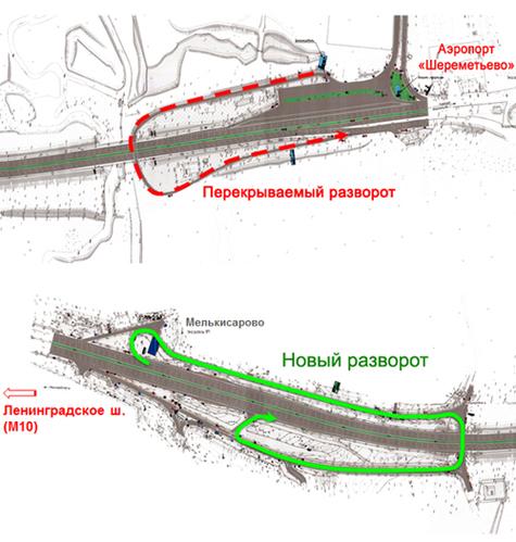 Схема движения по основному
