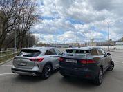 Ты мне — не пара: сравнительный тест Infiniti QX50 и Jaguar F-Pace
