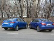 Что лучше за миллион рублей: тест-драйв Hyundai Solaris и Lada Vesta