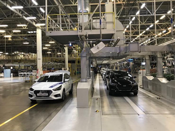 Завод Хендай вПетербурге выпустил 1,5-миллионный автомобиль